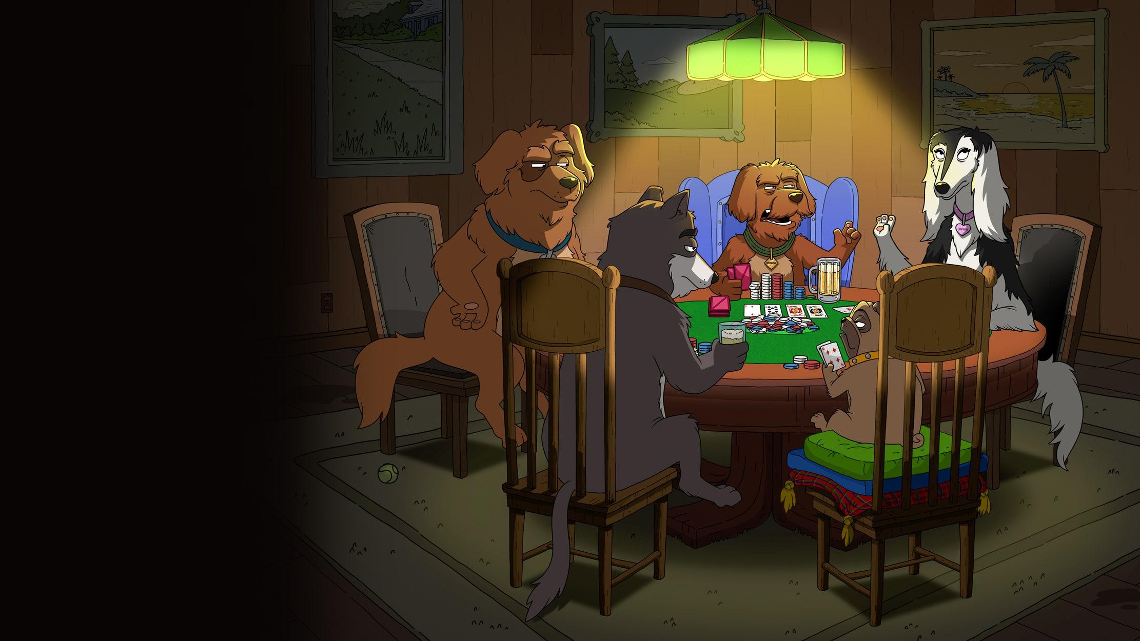 Dogs Playing Poker seriesDetail